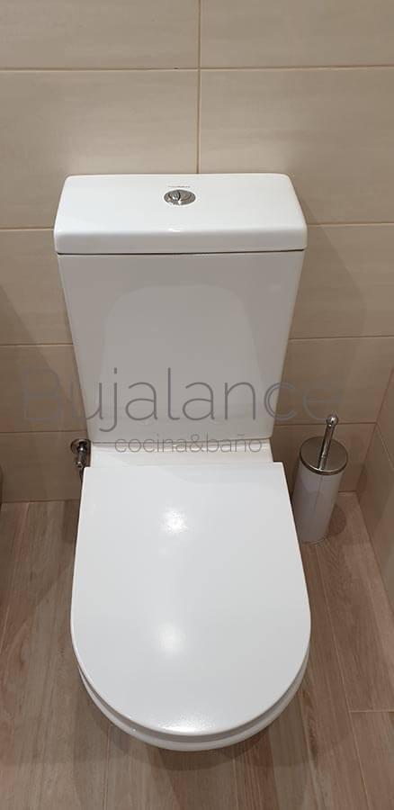 Sanitario compacto de diseño para reforma de baño en Benasque