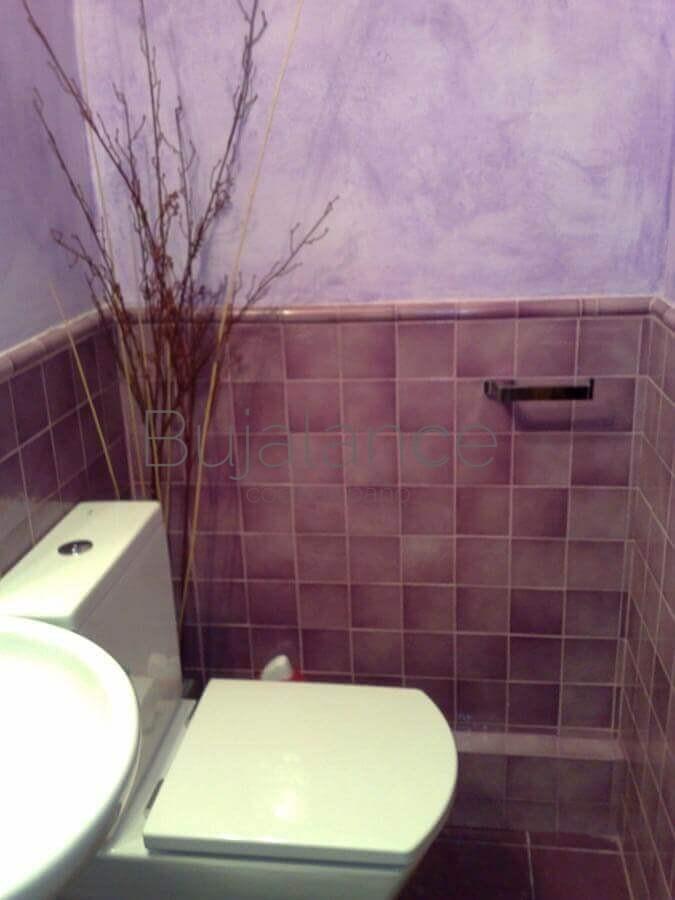 Zona de sanitario después de la reforma en baño pequeño en Graus